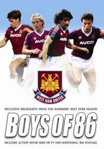Frank McAvennie and Tony Cottee star in the Boys of 86 DVD