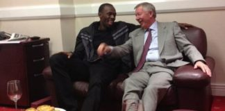 Sir Alex Ferguson and Usain Bolt