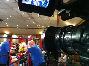 Three-times world champion Dennis Andries supporting amateur boxing in Berkshire this evening. © visionsport/John Gubba
