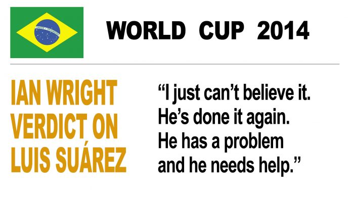 Ian Wright verdict on Suarez bite