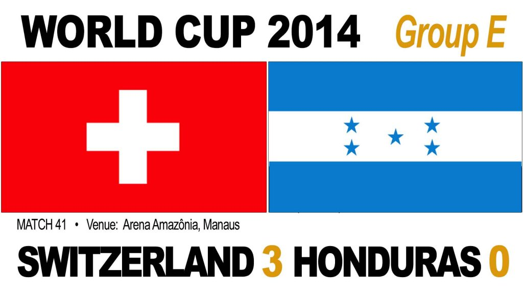 Switzerland 3-0 Honduras