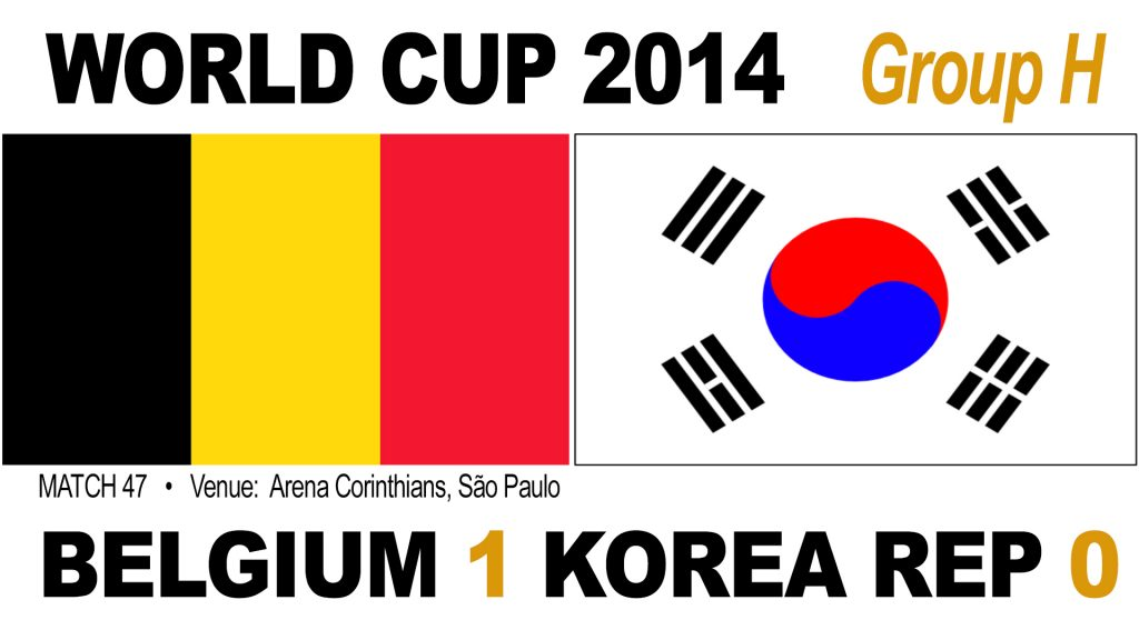 Belgium 1-0 South Korea