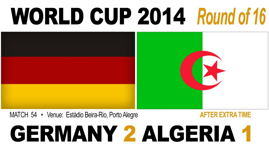 Germany 2-1 Algeria AET