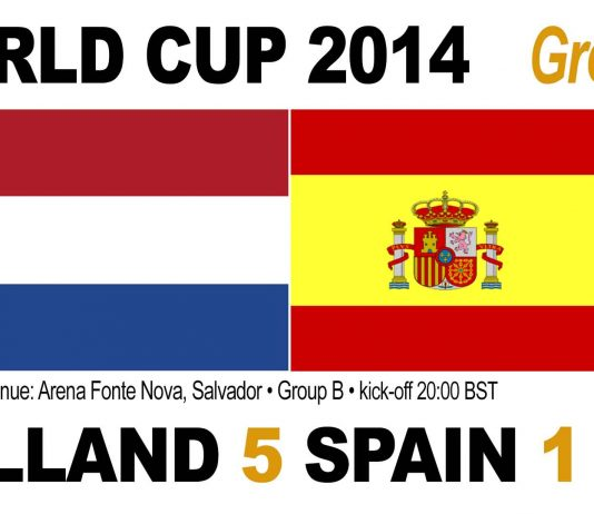 World Cup Match 3: Holland 5, Spain 1