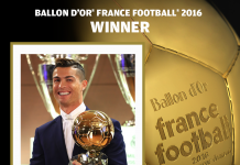 Cristiano Ronaldo 2016 Ballon d'or winner