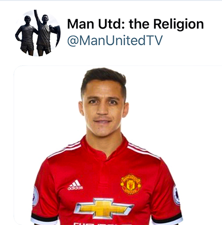 Sanchez joining Man Utd: The Religion