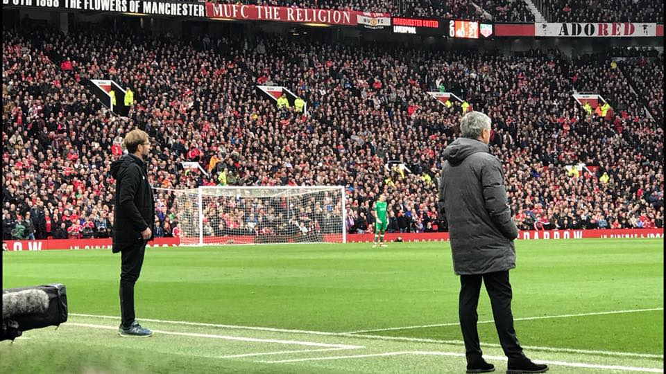 Mourinho got the better of Klopp when United beat Liverpool at Old Trafford
