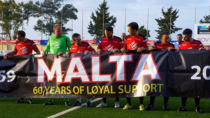 60 Years of Loyal Support: The banner that be unveiled at Old Trafford next weekend