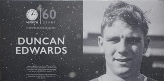Duncan Edwards - Munich 60 years tribute at Old Trafford