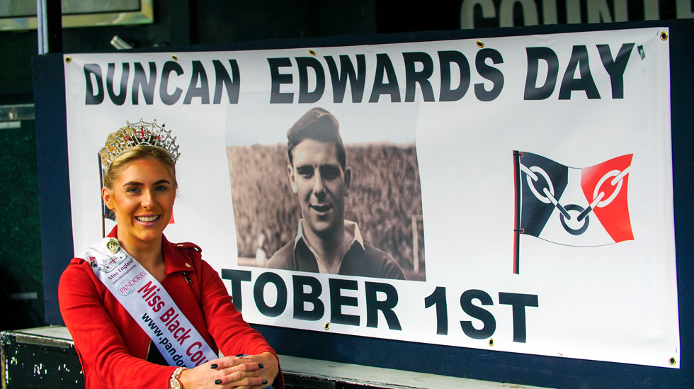 Miss Black Country Alexandra Darby one of the ambassadors of the Duncan Edwards Foundations. Photo copyright John Gubba