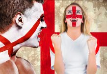 England fans celebration - photoshop montage