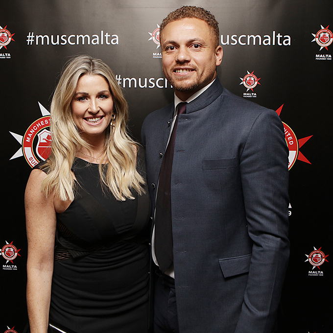 Leanne and Wes Brown - both huge supporters of MUSC Malta - at Thursday's Gala Dinner.