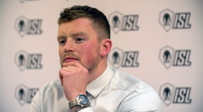Adam Peaty at ISL launch