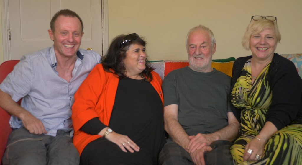 Filmmaker John Gubba, Duncan Edwards' cousin Dusky, actor Bernard Hill and Rose Cook Monk who has written the stage play 'Keeping the Dream Alive'. Photo: © visionsport.tv