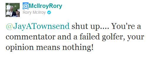 Rory McIlroy defends his caddy on twitter