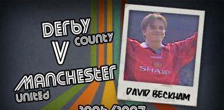 David Beckham: Derby v Man Utd, 1996/1997