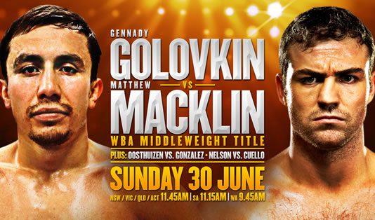 Triple G v Tipperary Tornado: Gennady Golovkin v Matthew Macklin