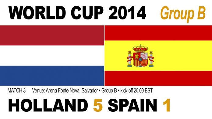 World Cup Match 3: Holland 5, Spain 1