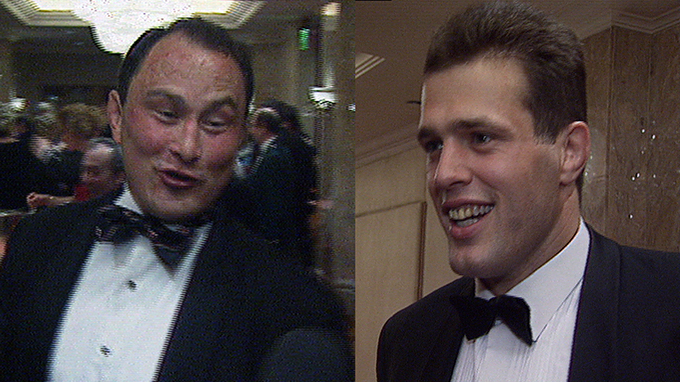 Brian Moore banter with Martin Bayfield