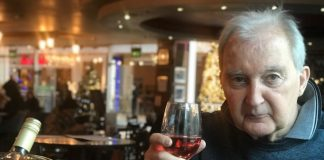 Cheers! Alan Hudson celebrating the 20th anniversary of surviving his horrific 'accident'.