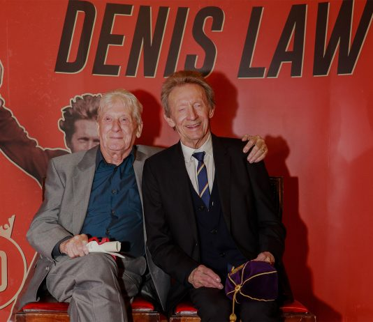 Denis Law with brother Joe