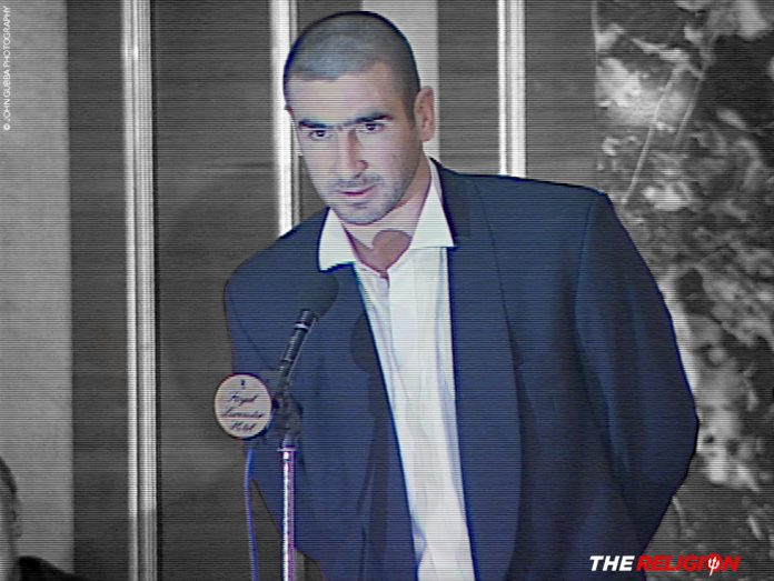 Eric Cantona accepts 1996 Footballer of the Year Award
